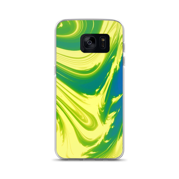 Lemon Lime Lava Trippy Phone Case (Samsung) - Samsung Galaxy S7 - Samsung Case