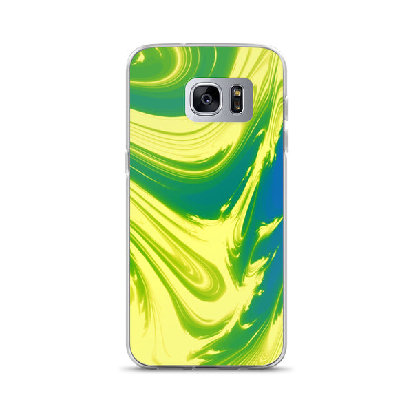 Lemon Lime Lava Trippy Phone Case (Samsung) - Samsung Galaxy S7 Ed - Samsung Case