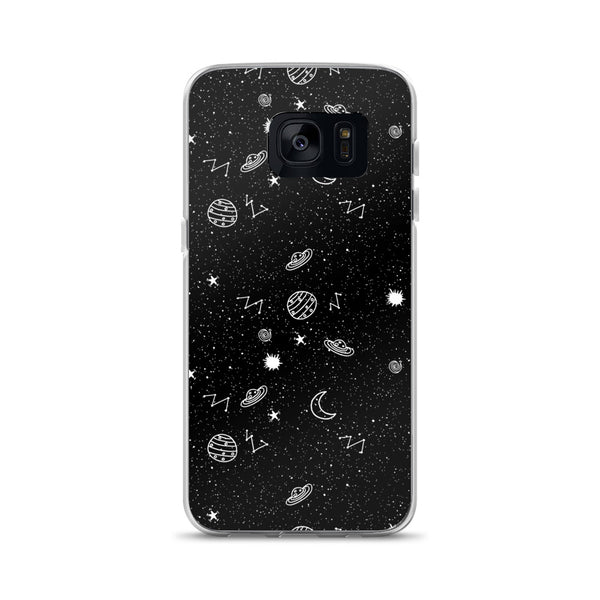 Space Doodles Phone Case (Samsung) - Black / Samsung Galaxy S7 - Samsung Case