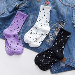 Moons And Stars Crew Socks - Socks