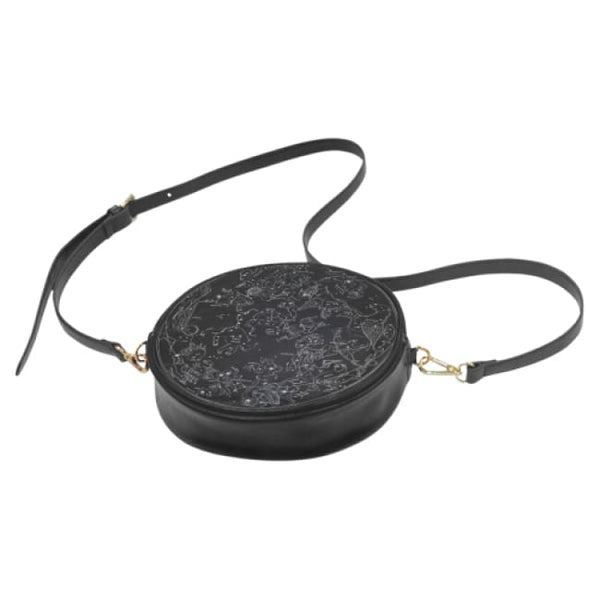 Northern Hemisphere Constellation Map Faux Leather Round Crossbody Bag - Purse