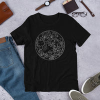 Northern Hemisphere Constellation Map Unisex Tee - Black / S - Unisex Tee