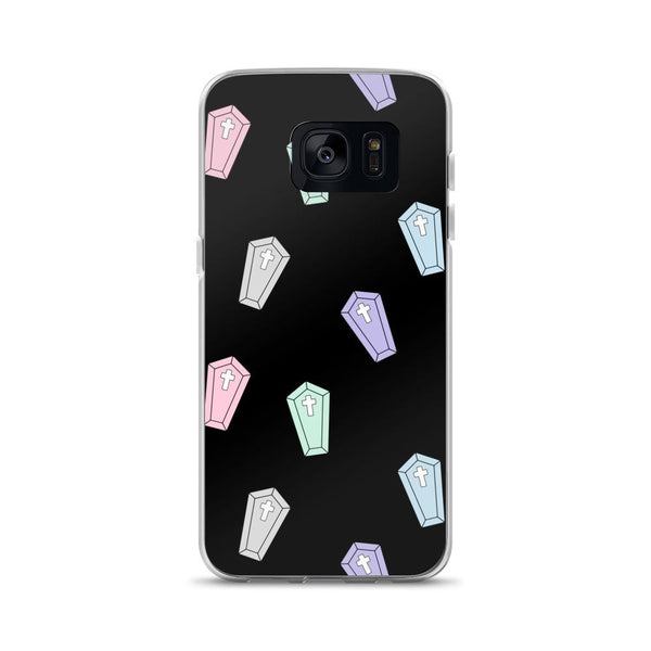 pastel coffins phone case (Samsung) - Black / Samsung Galaxy S7 - Samsung Case