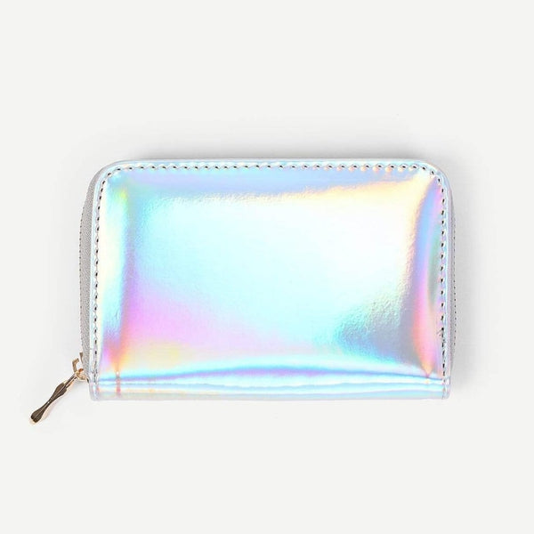 pastel holographic zipper wallet - Holographic - Wallet