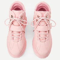 pastel pink chunky platform high top sneakers - Womens Sneakers