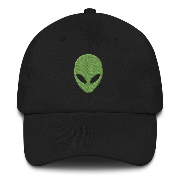 Pixel Alien Embroidered Baseball Cap - Black - Baseball Cap