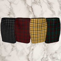 Plaid Tartan Fitted Pencil Skirt - Fitted Skirt