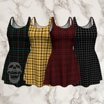 plaid tartan flare A-line skater dress - Dress