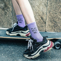 Play With Me Crew Socks - Socks