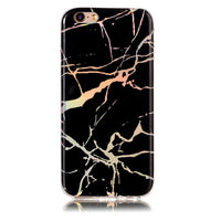 Holographic Marble Soft Silicone Phone Case (Iphone) - Black / For Iphone 6 6S - Iphone Case