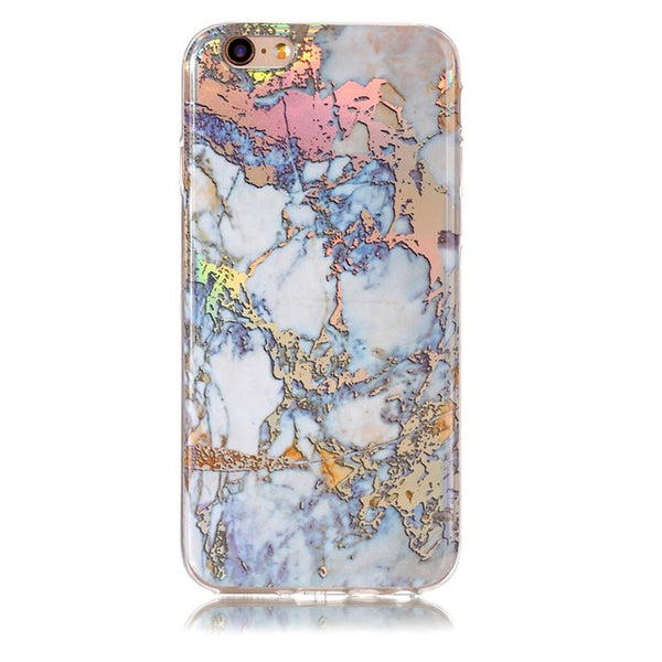Holographic Marble Soft Silicone Phone Case (Iphone) - Gold / For Iphone 6 6S - Iphone Case