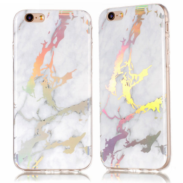 Holographic Marble Soft Silicone Phone Case (Iphone) - Iphone Case