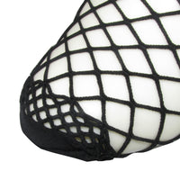 fishnet mesh bow back ankle socks