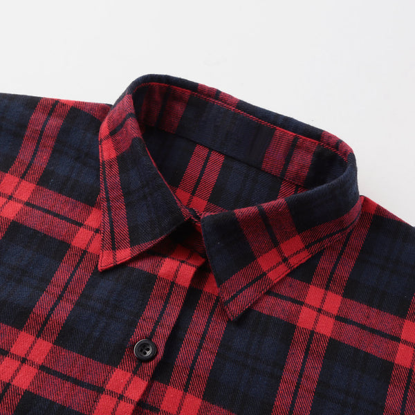 classic oversized button up plaid flannel shirt