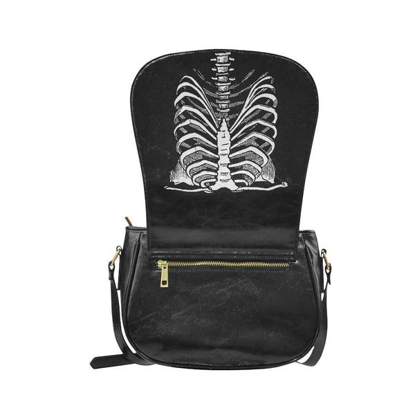 rib cage faux leather envelope crossbody bag - Purse