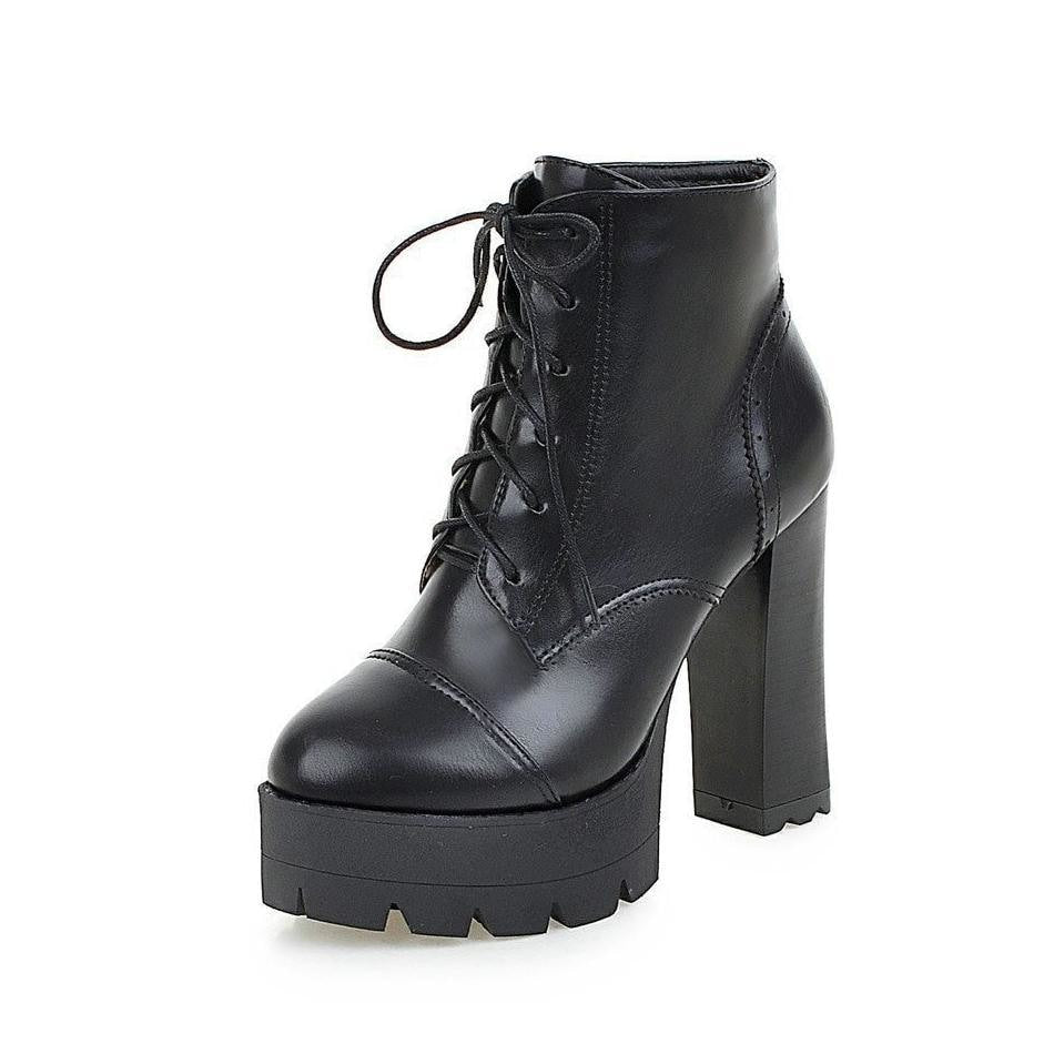 fc5d91dcb61 treaded ultra platform lace-up high heel boots