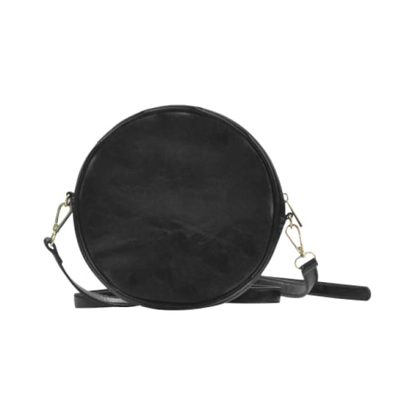 Woman In The Moon Faux Leather Round Crossbody Bag - Purse