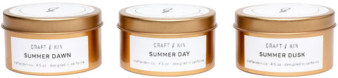 Craft and Kin Summer Candle Gift Set