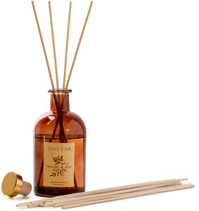 Amber Glass Reed Diffuser Set