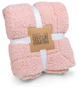 Reversible Sherpa Throw Blanket