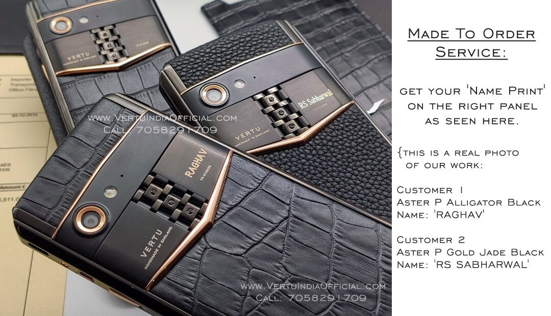 VERTU - Made To Order Luxury Mobile Phones | Print Your Name on Your Mobile