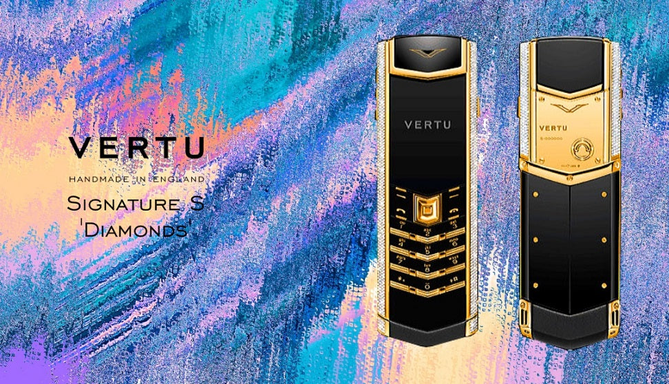 The Best Classic Mobile Phone from VERTU | Yellow Gold Signature Diamonds in Keypad