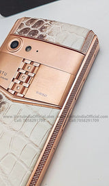 Vertu Aster P Rococo 'Diamonds' Red Gold Android Luxury Mobile Phone | 6GB RAM + 128GB Storage
