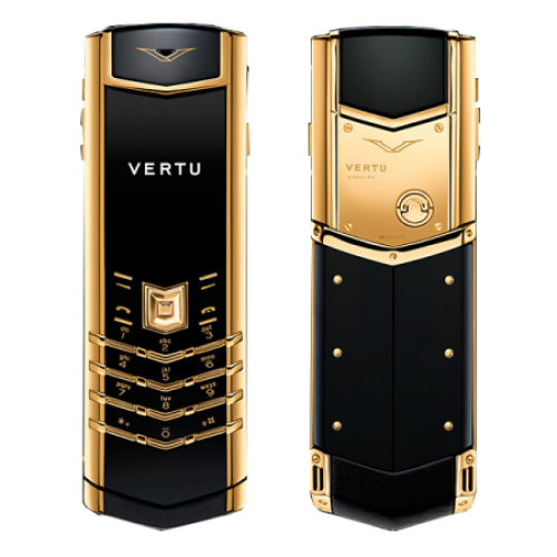 Vertu Signature Keypad Button Black Gold Mobile Phone