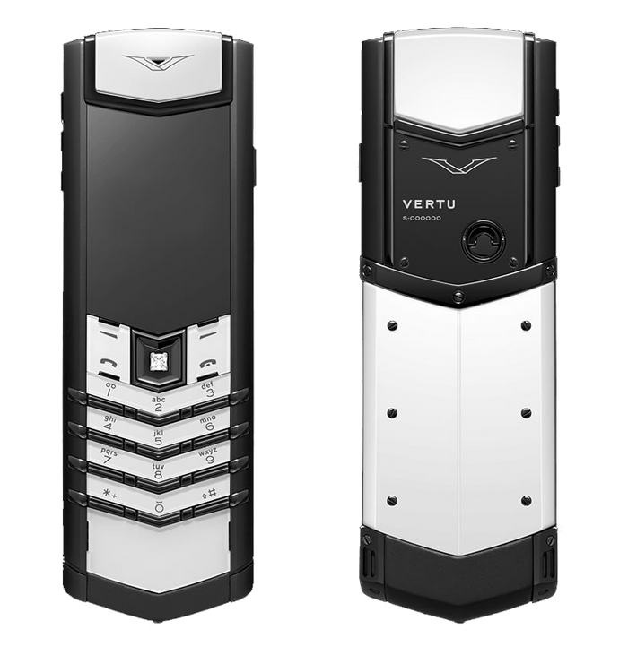 Vertu Signature Keypad Button Black & White Ceramic Mobile Phone