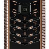 Vertu Signature Clous de Paris Red Gold Luxury Mobile Phone