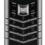 Vertu Signature Keypad Buttons Black Leather & Silver Luxury Mobile Phone