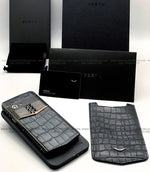 Vertu Aster P Gold Alligator Leather Touch Screen Android Luxury Mobile Phone | 6GB RAM + 256GB Storage