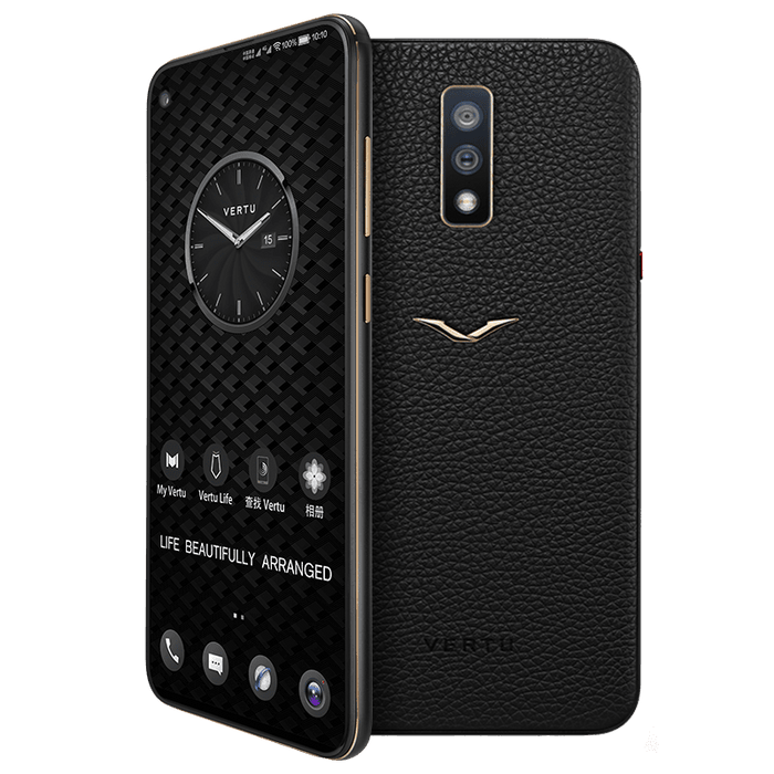 Vertu Life Vision Jet Black Gold Android Luxury Mobile Phone | 8GB RAM + 128GB Storage