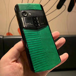 Vertu Aster P Made To Order in Black Body Green Leather
