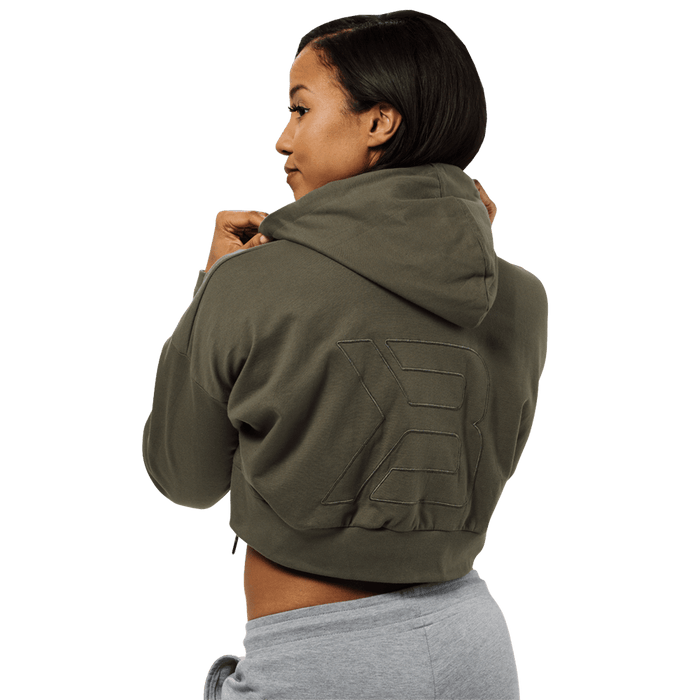 Astoria Cropped Hood - Wash Green