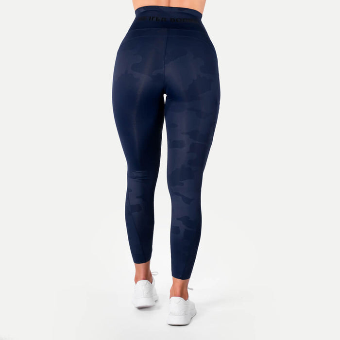 High Waist Leggings - Dark Navy Camo