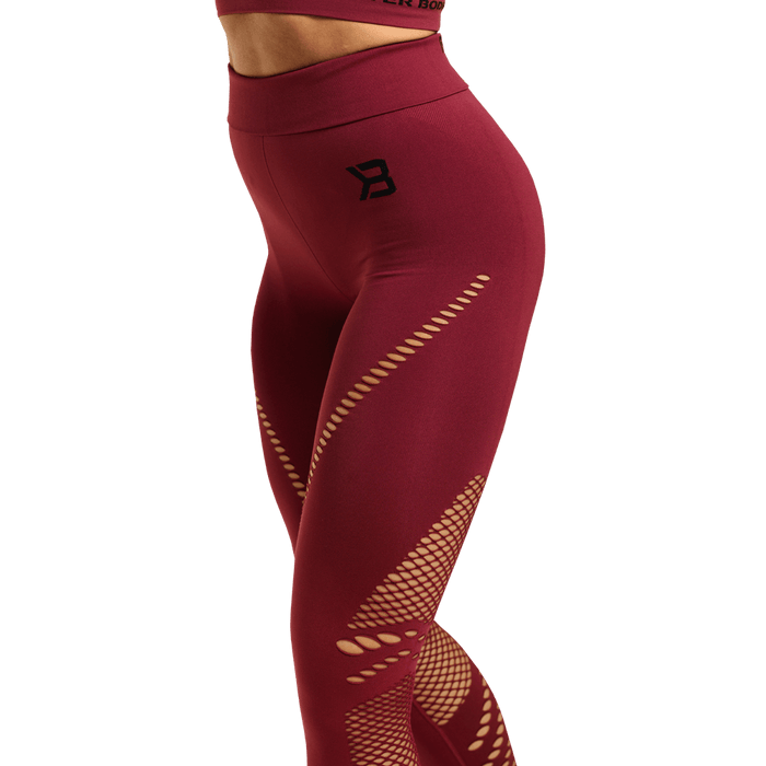 Waverly Tights - Sangria Red