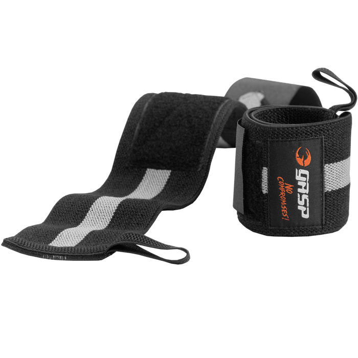 1RM Wrist Wraps - Black/Grey