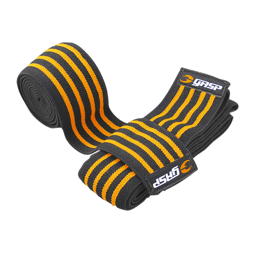 Knee Wraps - Black/Yellow