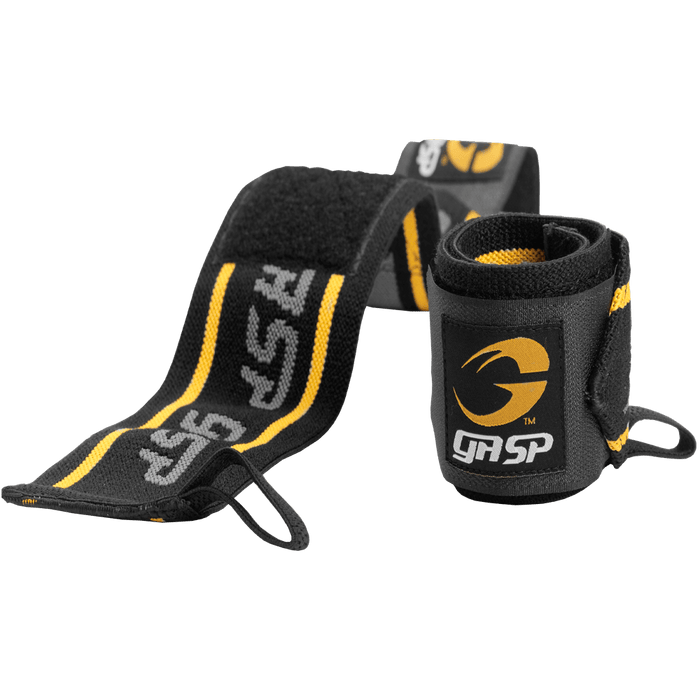GASP Wrist Wraps - Black/Yellow