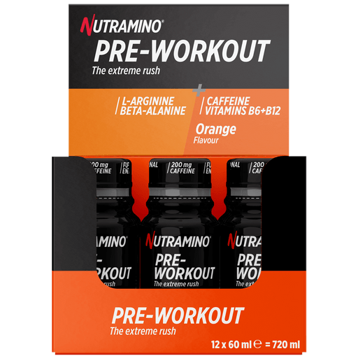 Pre-Workout Shot Orange - 12x60ml.