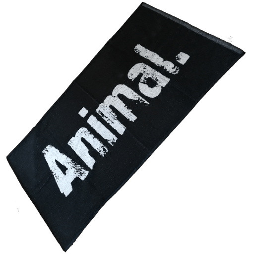 Animal Gym Towel - Black