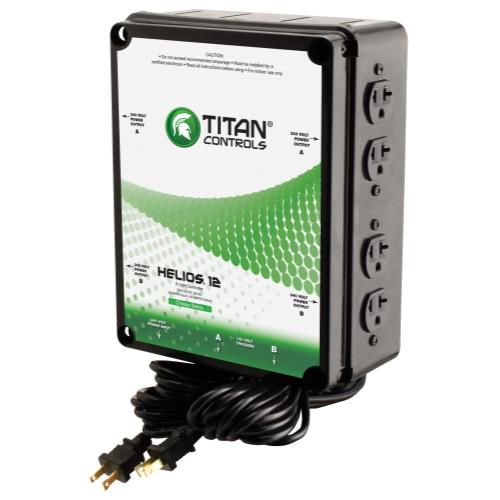 Grow Kings - Titan Controls® Helios® 12 - 8 Light 240 V Controller with Dual Trigger Cords