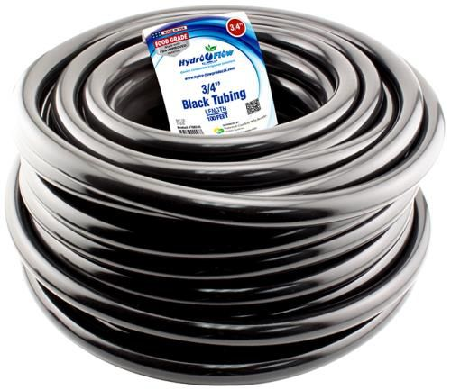 Grow Kings - Hydro Flow® Premium Vinyl Tubing - Black 100 ft Roll - 3/4 in ID - 1 in OD
