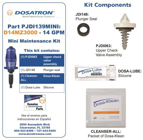 Grow Kings - Dosatron Mini Seal Kit for Water Powered Doser 14 GPM 1:3000 to 1:333