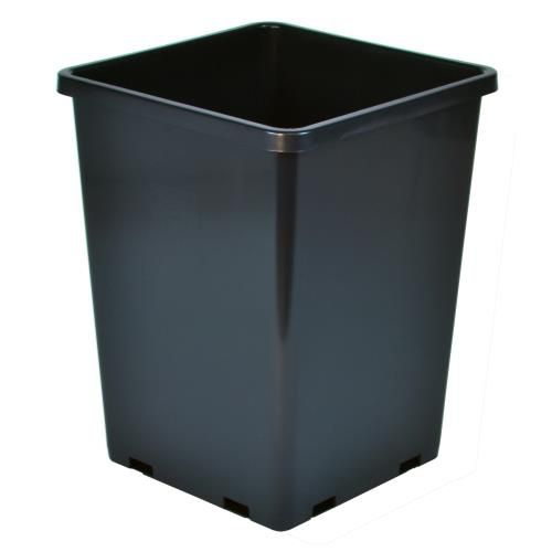 Grow Kings - Gro Pro Rose Bucket Black 7.6 in x 7.6 in x 9.7 in (10/Cs)