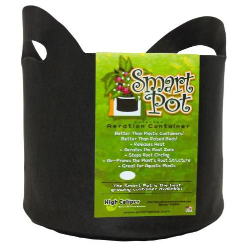 Grow Kings - Smart Pot Black 5 Gallon w/ handles (50/Cs)