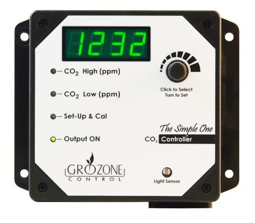 "Grow Kings - Grozone Control SCO2 0-5000 PPM CO2 Controller ""Simple One Series"""