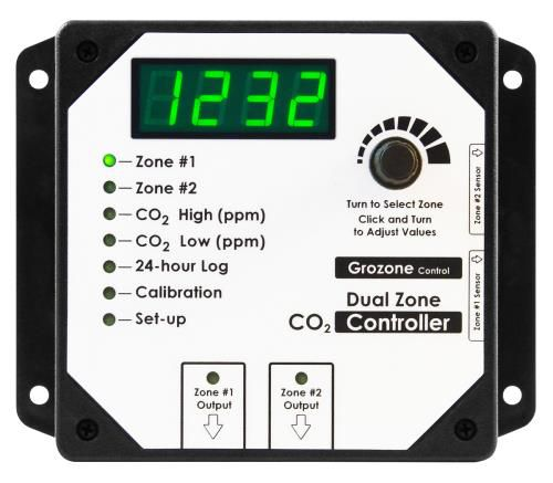 Grow Kings - Grozone Control CO2D 0-5000 PPM Dual Zone CO2 Controller