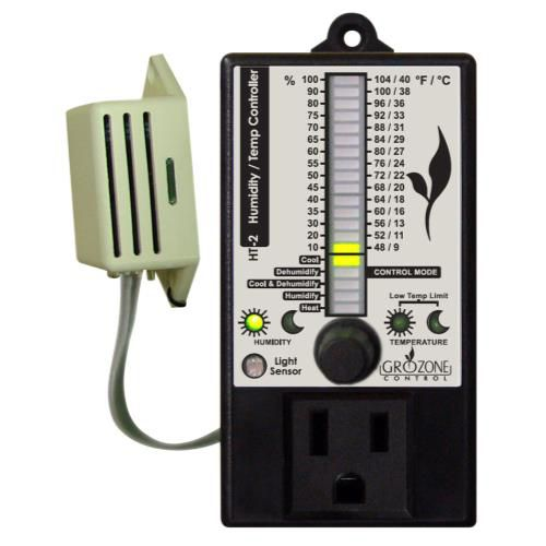 Grow Kings - Grozone Control HT2 Climate Controller (Temp and RH) Single Output Bar Graph Display